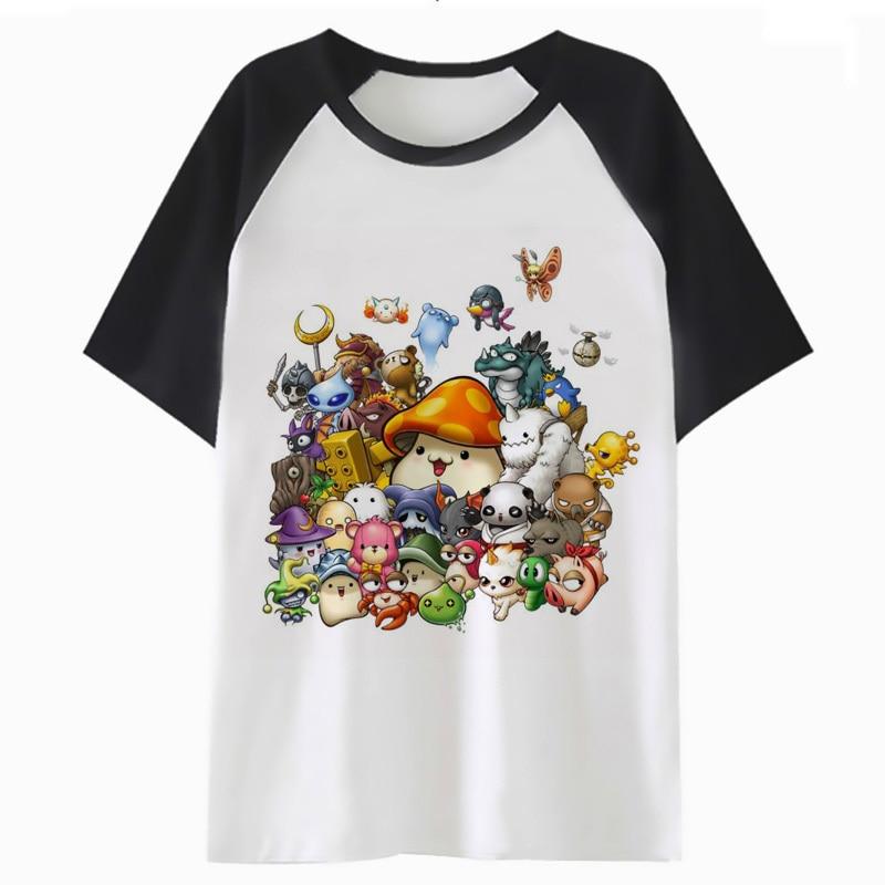 Maplestory T Shirt Harajuku Hip Tshirt Funny Clothing Men Top For Hop T-shirt Male Streetwear Tee I3702