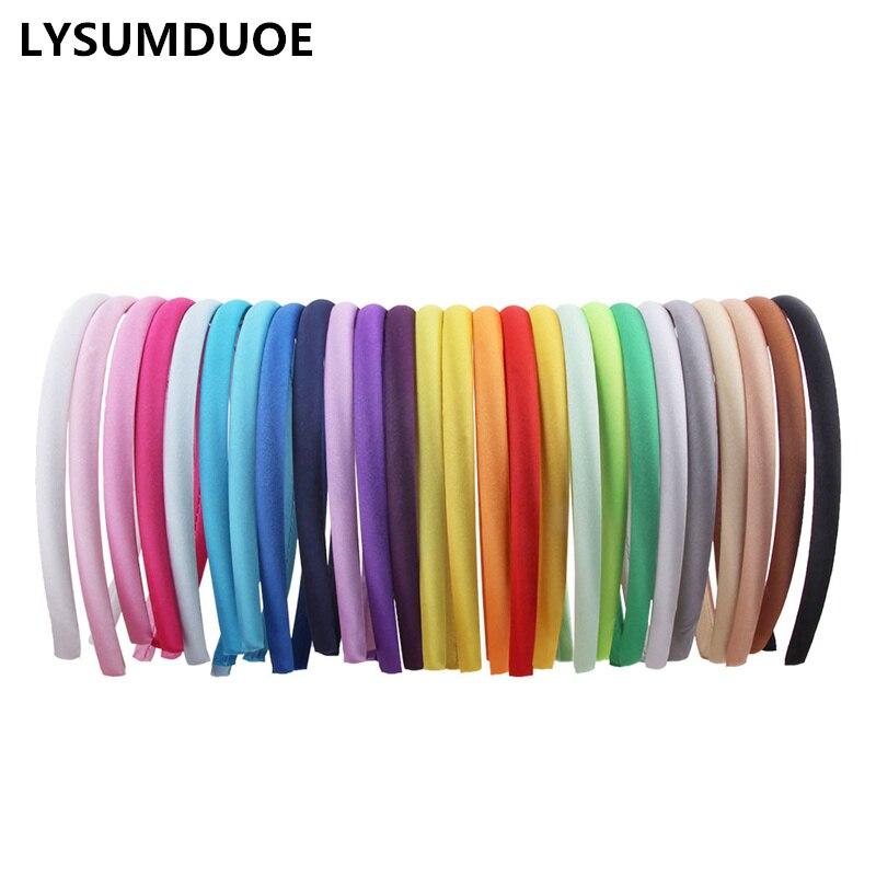 Женская атласная повязка на голову в Корейском стиле, аксессуары для волос, сделай сам, 10 шт./лот/лот