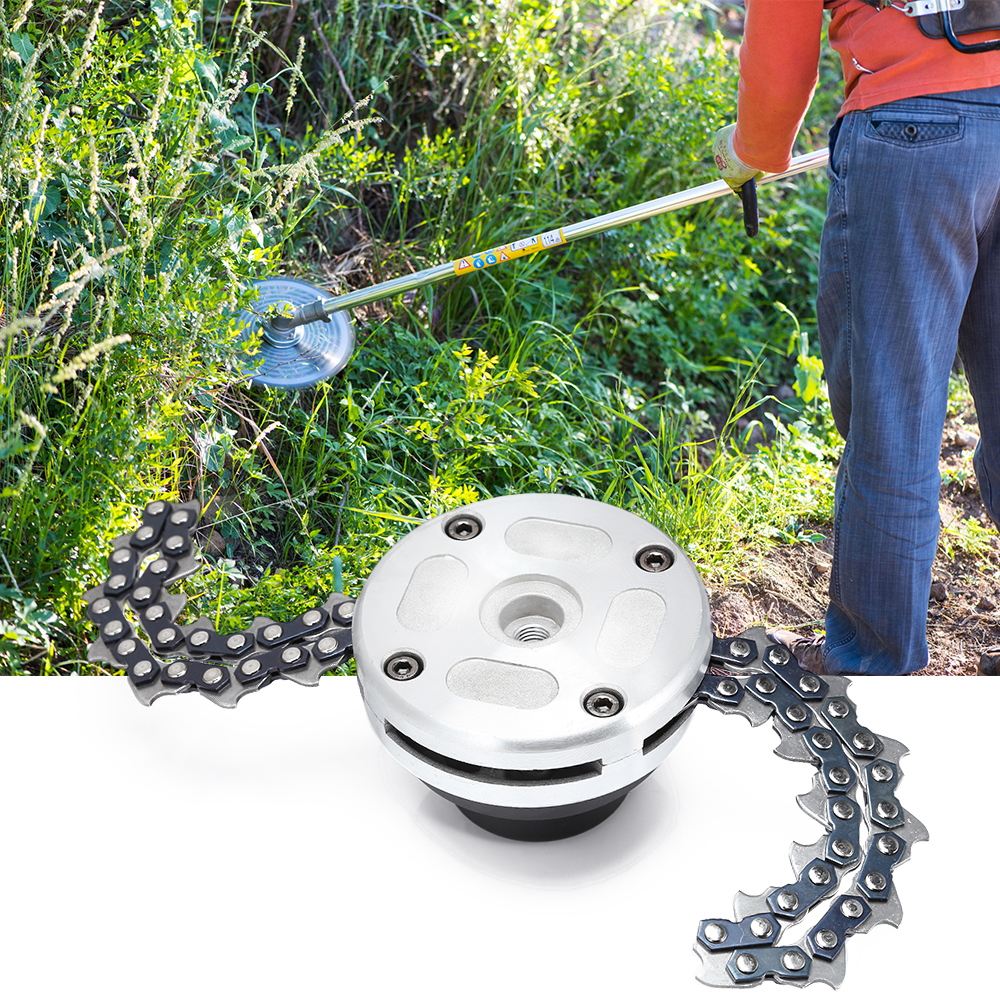 Lawn Mower Trimmer Head Coil Chains Brushcutter Garden Grass Trimming Machine Brush Cutter for Lawn Mower partes del cable coaxial