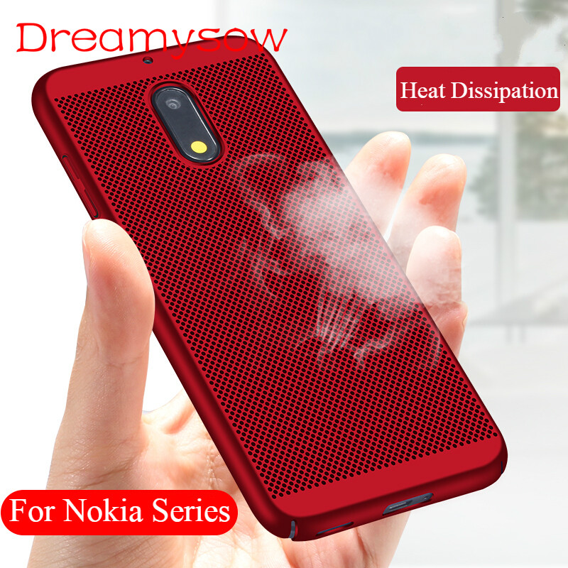 Case For Nokia 6 2018 7Plus 3 5 8 2 7 9 1 Heat Dissipation Cooling Honeycomb Back Cover for 2.1 3.1 5.1 X6 6.1 Plus Accessories-in Fitted Cases from Cellphones & Telecommunications on AliExpress