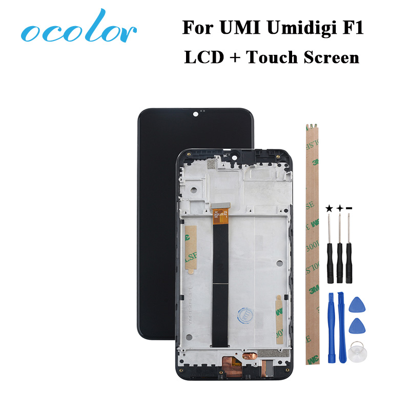 ocolor For UMI Umidigi F1 LCD Display and Touch Screen With Frame Digitizer Assembly With Tools