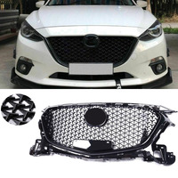 For Mazda 3 Axela 2014 2015 2016 Front Upper Grille Honeycomb Grill Mesh ABS Plastic Car Accessories High Quality