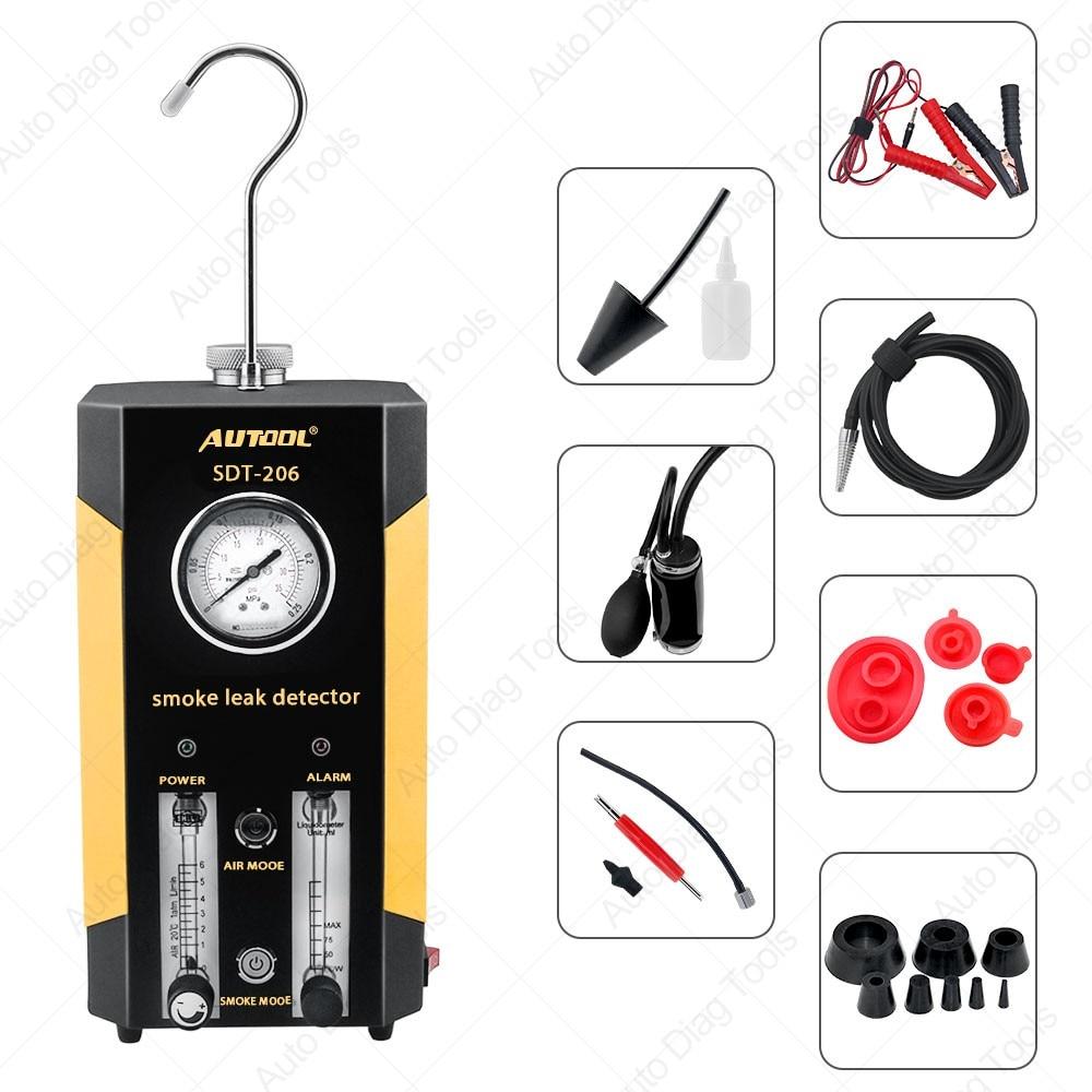 Automotive Rook Machines Detector Autool Sdt-206 Auto Lek Locator Van Pijp Systemen Voor Motorfiets Smog Lekkage Diagnostic Tester Verkoopprijs