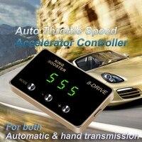Зеленый дроссельной заслонки Контроллер 8 Привод гоночные перчатки для езды на велосипеде усилитель для AUDI A6 LHD RHD 2005 2009
