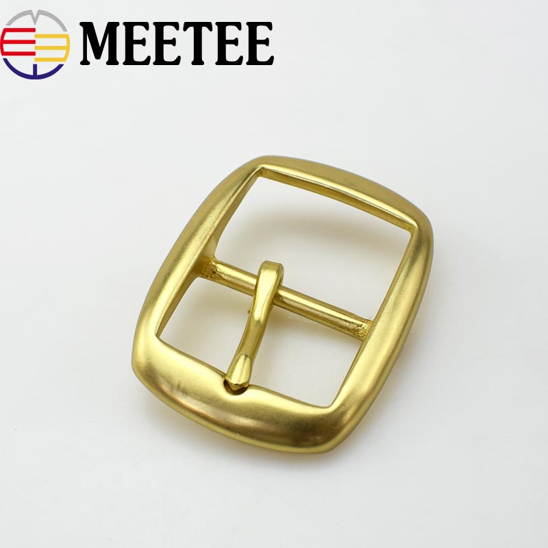 High Quality Solid Brass  Belt Buckles Men Women Metal Pin Buckle For Belt 34mm  DIY Leather Craft KY2082