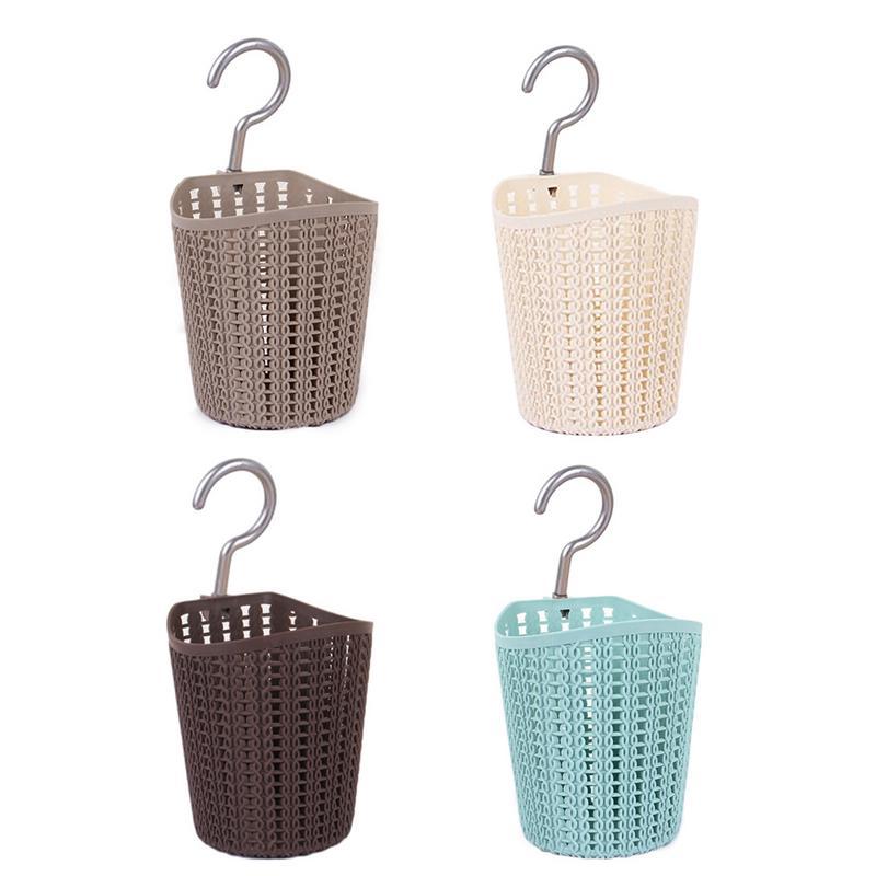 kitchen storage drain basket plastic rattan knitted debris
