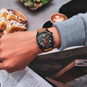 Image 5 - 22 ミリメートルスマートとレザーの交換時計ストラップ Huawei 社腕時計キメ、頑丈で耐久性のある革ストラップ
