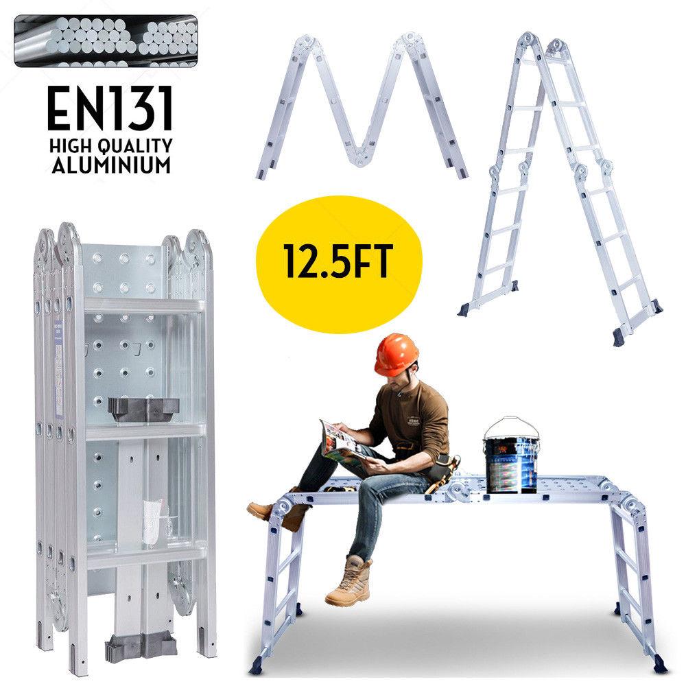12.5FT EN131 Multifunction Ladders Purpose Step Platform