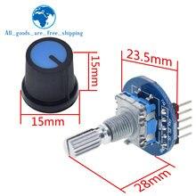 TZT Arduino için döner kodlayıcı modülü tuğla sensör geliştirme yuvarlak ses döner potansiyometre topuzu kapağı EC11