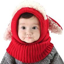 Newborn Cute Ears Unisex Boy Girls Winter Beanie Baby Hat Ho