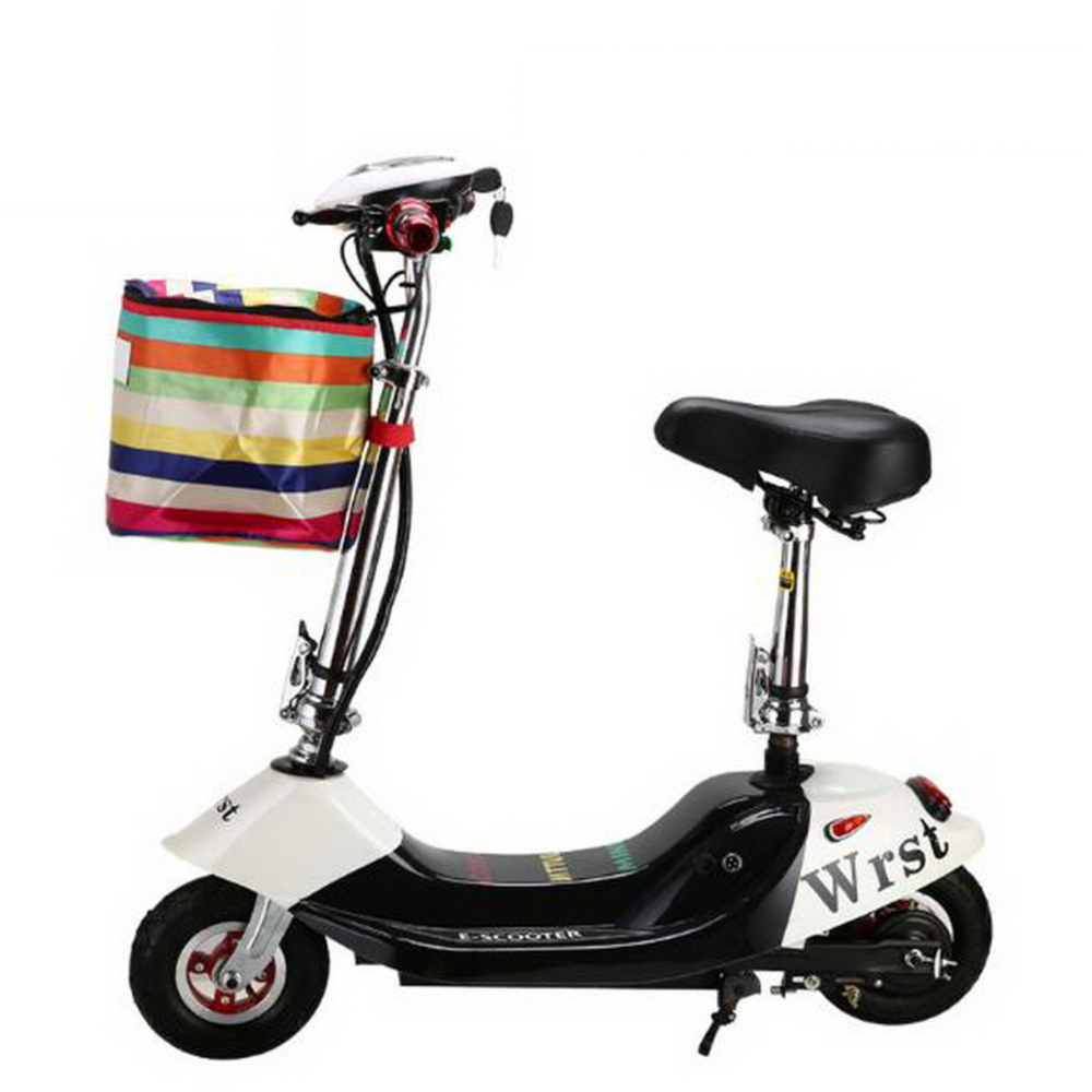 261007/Electric bicycle/small battery car/scooter/Height adjustment/Folding women mini electric car/adult electric scooter/