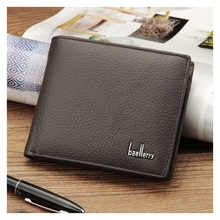 Casual Europe And America Mens Wallet Short Leather Us Dollar Bag Money Multi-Function
