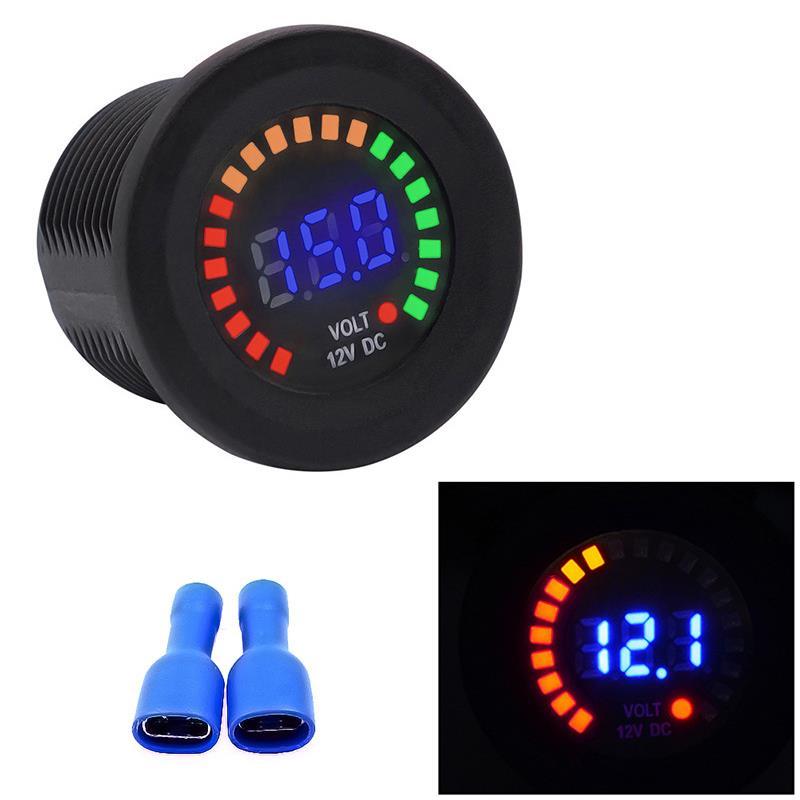 Sinnvoll Dc 12 V Digital Led Panel Voltmeter Motorrad Universal Spannung Tester Meter Dc 12 V Farbe Bildschirm Auto Boot Mini Volt Monitor Warm Und Winddicht