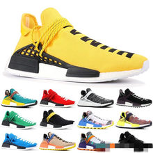 46277295c Human Race Mens Running Shoes With Box Pharrell Williams Sample Yellow Core  Black Sport Designer Shoes