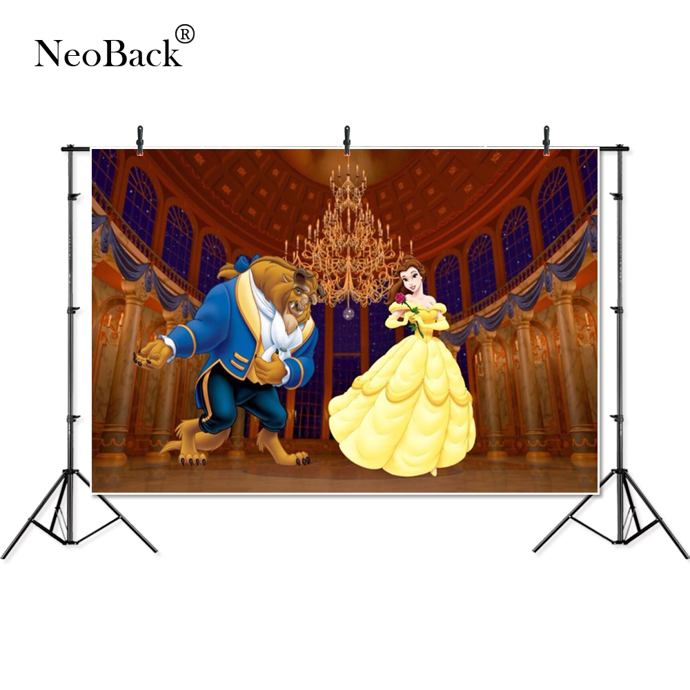Thin Vinyl Beauty Beast Ballroom Belle Princess  Party Children Kids Photography Backgrounds Professional Studio Photo Backdrop