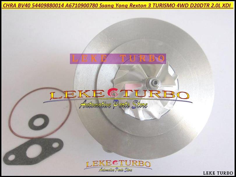 Turbo Cartridge CHRA Core BV40 54409700014 54409880014 A6710900780 For Ssang yong Rexton III 2.0XDI D20DTR 155KM TURISMO 2.0 XDI turbo chra 1454224 0001 14542240001 a6620903080 turbocharger cartridge for ssang yong musso 2 9 td 97 05