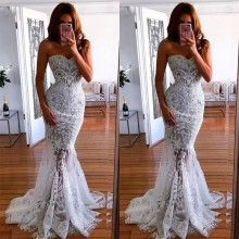 Try Everything Prom Long Dress Women Summer Ladies Dresses Evening White Party Strapless Lace Floor Lenght For