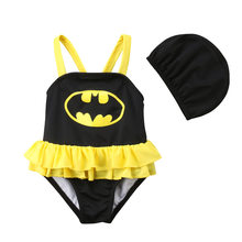 hirigin Baby Girl Boy Swimsuit Toddler Kid Swimwear Summer Suspender Bodysuit+Hat Bathing Suit Beachwear Swimming Costume 6M-5T