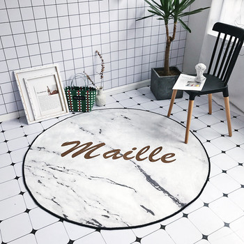 Ins Hot Type Round Carpet Non-slip Pad Letters Printed Rugs For Living Room Bedroom Bedside Diameter 145cm tapete para sala