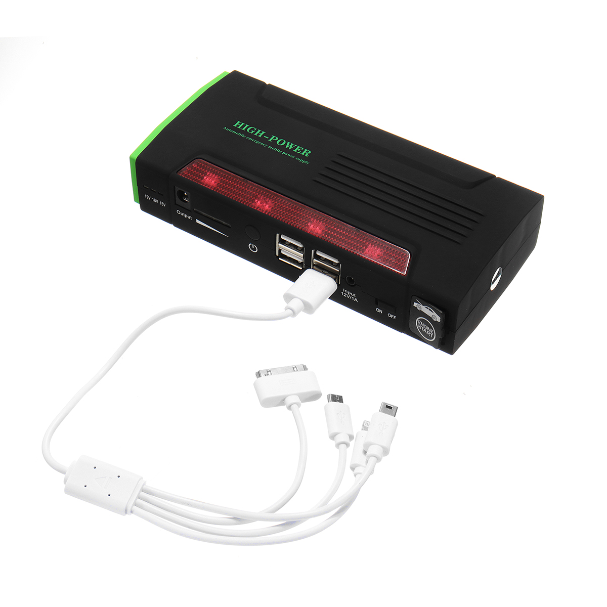 82800 mAh 4 USB voiture saut démarreur Pack chargeur Portable Booster batterie externe Battery82800mAh 4 USB voiture J - 5