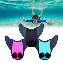 Adult Kids Swimming Fins Children Training Flippers Monofin Mermaid Swim Fin Swimming Foot Flipper Diving Feet Tail Monofin children outdoor swimming flippers diving monofin for kids training learning accessories 8