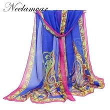 Fashion Style Long Chiffon Silk scarves woman new  Print long wrap 160*50cm women scarfs