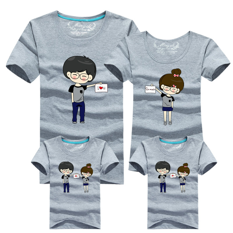 2018 Family Mother and Daughter T-shirt Tops Matching Family Tee Tops Blouse
