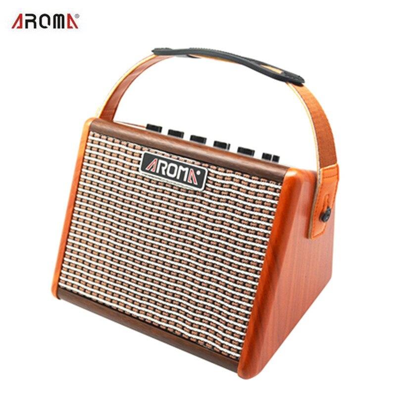 AG-15A 15 w Portable Acoustique Guitare Amplificateur Amp BT Haut-Parleur Intégré Batterie Rechargeable avec Microphone Interface