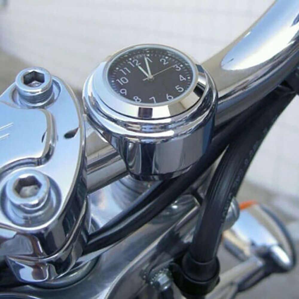 """Универсальный Водонепроницаемый 7/8 """"Мотоцикл Велосипед Руль Крепление часы Ручка Бар держатель, алюминиевый сплав светящиеся часы Мото Аксессуары"""