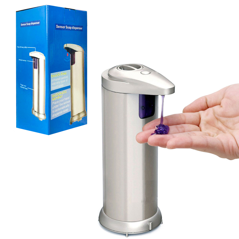 Automatic Soap Dispenser Sensor Automatic Touch-Free Liquid Dispenser ABS Electroplated Sanitize Dispenser For Kitchen BathroomAutomatic Soap Dispenser Sensor Automatic Touch-Free Liquid Dispenser ABS Electroplated Sanitize Dispenser For Kitchen Bathroom