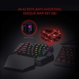 Image 4 - ريدراجون K585 ديتي بيد واحدة RGB الميكانيكية الألعاب لوحة المفاتيح 42 مفاتيح الأزرق التبديل LED اليد اليسرى لوحة مفاتيح صغيرة لعبة المحمول