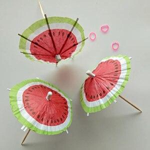 50 шт., смешной декор, креативный зонтик, выбор арбуза, выбор коктейлей, фруктовый декор для гостиничного магазина