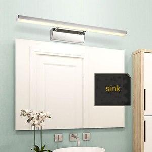 Image 2 - Chinese stijl wastafel wasbak led spiegel koplamp eenvoudige moderne badkamer spiegel blaker lamp AC85 265V