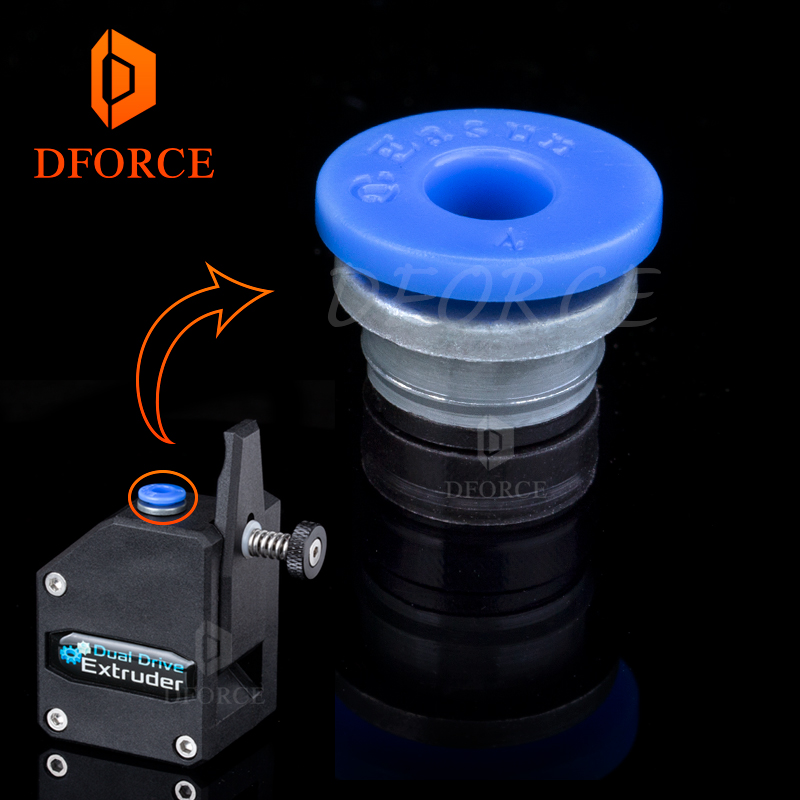 BMG EXTRUDER  Embedded Collet Clips  For Extruder  And Other Embeddable Tube  Ptfe Tube Blue Collet Clips