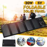 Outdoor 20W USB Port Solar Panels Portable Folding Foldable Waterproof Solar Panel Charger Power Bank for Phone Battery Charger