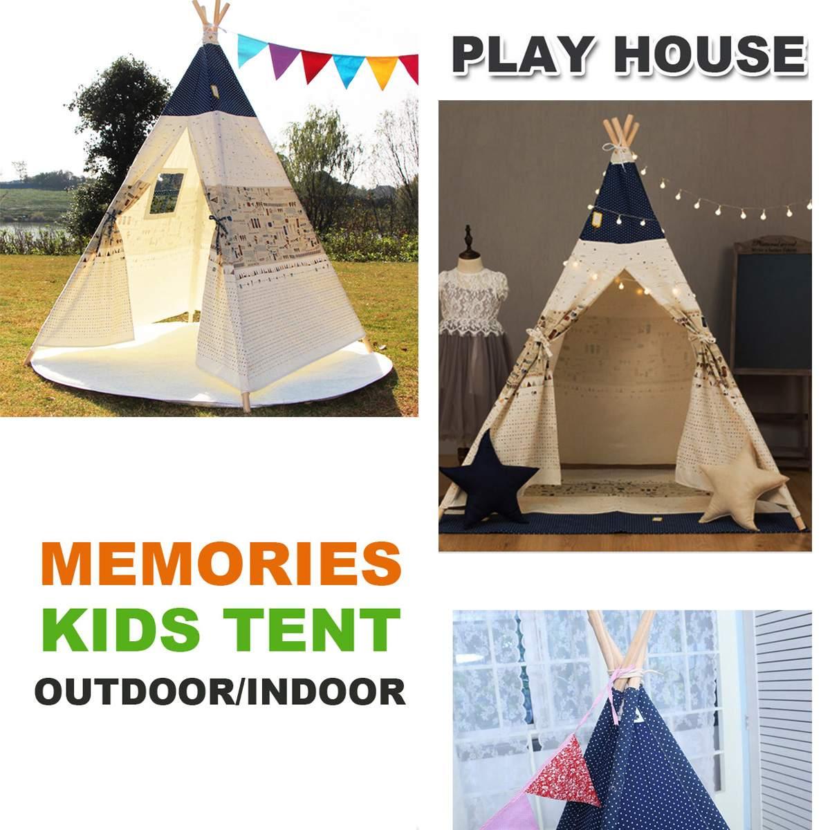 SGODDE Pet Tentes En Plein Air Wigwan Grands Enfants Jouent Tente Tipi Tipi Portable Pliant Camping En Plein Air Intérieur Extérieur Chiots Maison
