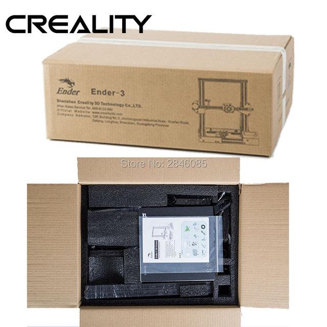 CREALITY 3D Printer Ender-3/Ender-3X Upgraded Tempered Glass Optional,V-slot Resume Power Failure Printing DIY KIT Hotbed 5