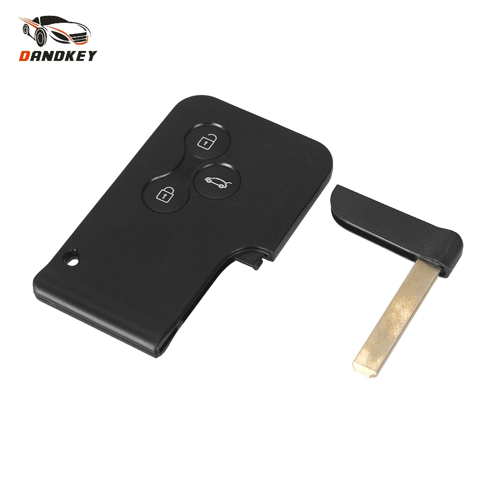 Dandkey Key Shell 2/3 Buttons Smart Card For Renault Clio Logan Megan Scenic For Car Key Case With Small Blade/No Blade Dandkey Key Shell 2/3 Buttons Smart Card For Renault Clio Logan Megan Scenic For Car Key Case With Small Blade/No Blade