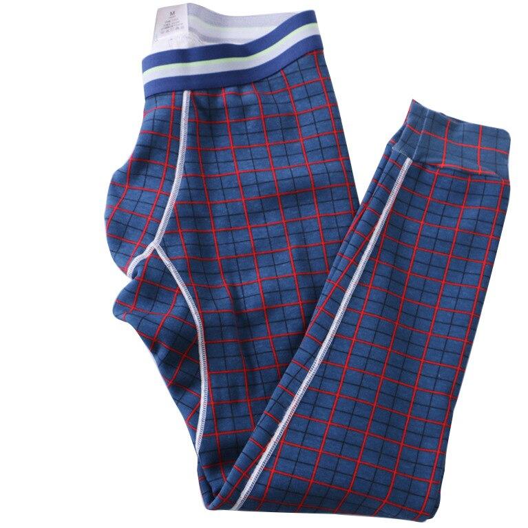 Mens Winter Warm sleep pants Fleece inside Thicken plaid Sleep Bottoms Sexy male slim fit Underwear Thermal Pajamas Pants MQ665