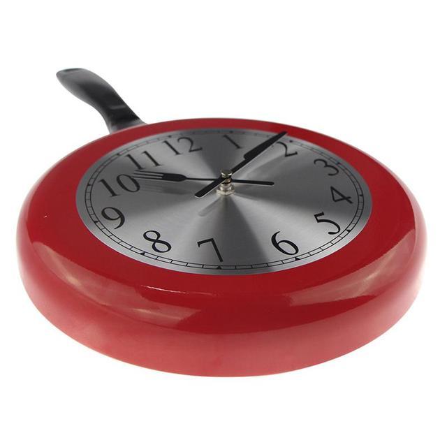 Mejor Reloj de pared Metal sartén diseño 8 pulgadas relojes ...