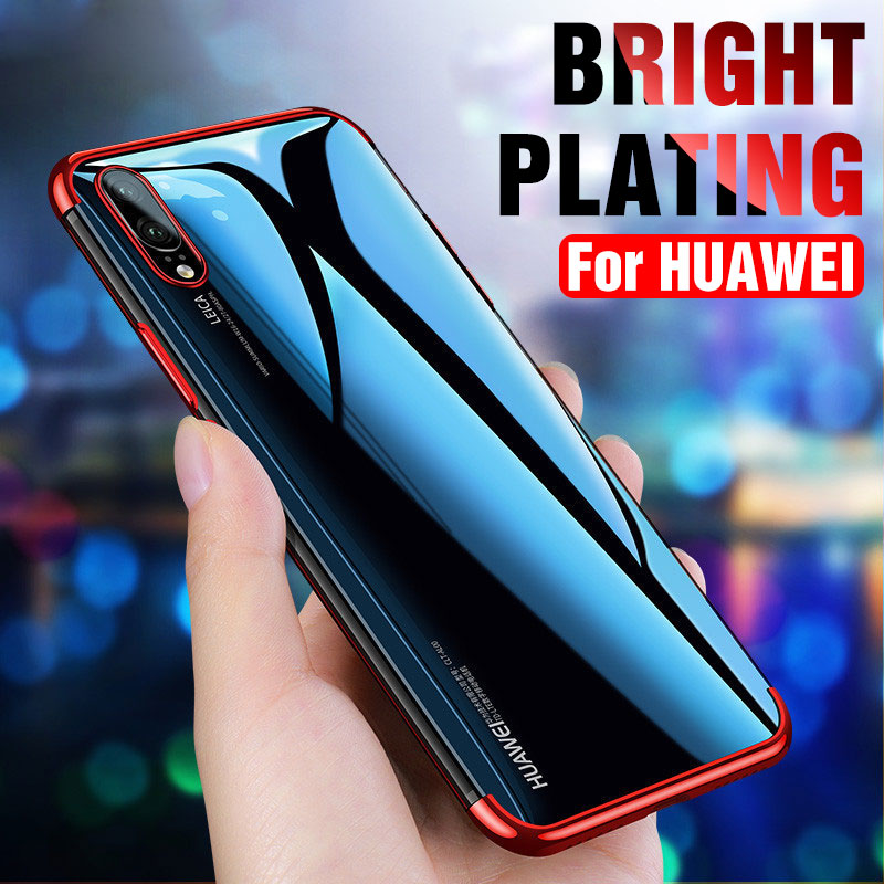 TPU Electroplate Soft Case On the For Huawei P20 P10 Lite Plus P20 Pro Honor 8X Max 8C 8A Mate 20 Lite Pro Phone Case Shell