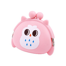 2018 new Arrivals Silicone Round Coin Purse Girls Small Bag Purse Wallet ID Card Rubber Key Phone Frog Design Money bag(China)