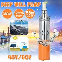 380W 48V/60V Solar Water Pump 55M Max Lift Deep Well Pump Solar Energy Submersible Water Pump