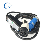 16A Type2 EV charger With LCD display EV Adjustable Current Single phase Car Charger EVSE 62196