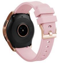 สร้อยข้อมือซิลิโคน 20 มม. สายรัดข้อมือกีฬาสมาร์ทนาฬิกาสำหรับ Samsung Galaxy ยาวนาน