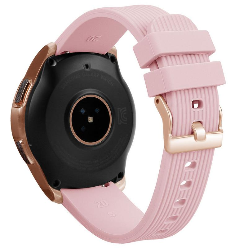 Silicone Bracelet Band 20MM Universal Wrist Strap Replacement Sports Smart Watch Watchband For Samsung Galaxy Long Lasting-in Smart Accessories from Consumer Electronics