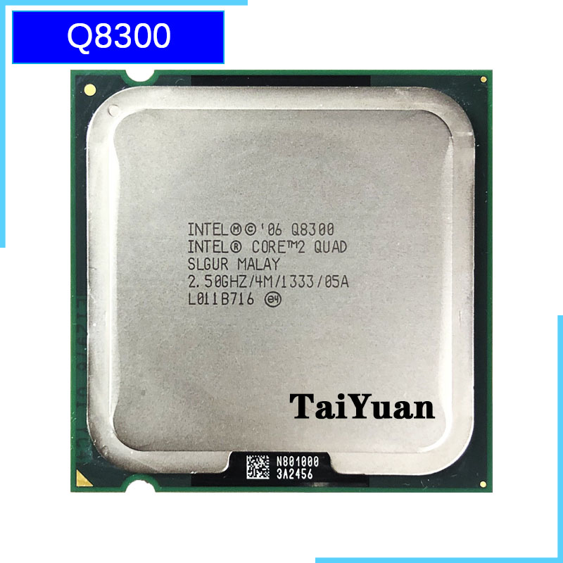 Intel Core 2 Quad Q8300 2.5 GHz Quad-Core CPU Processor 4M 95W 1333 LGA 775 title=
