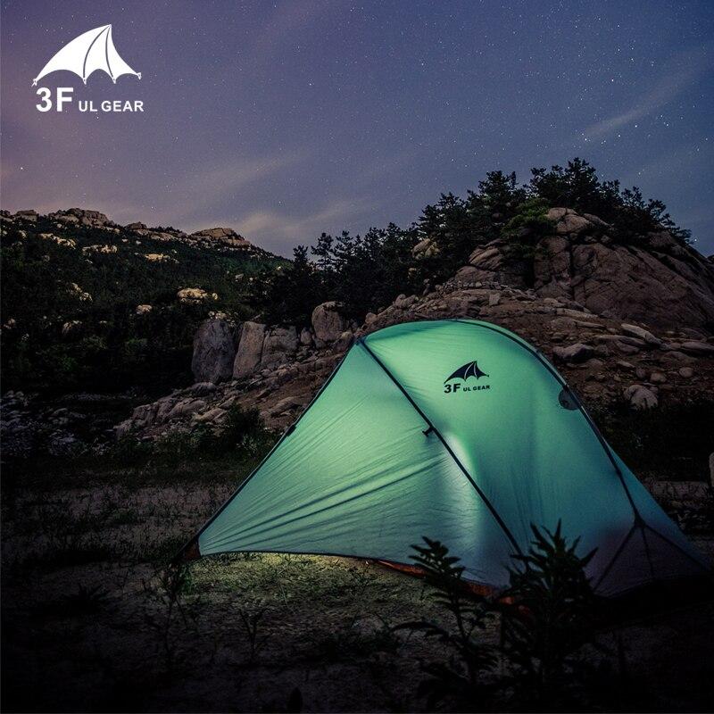 3F UL Vitesse tente de camping une personne couche double 15D/210 T tente de randonnée Imperméable À L'eau 3 Saison 4 Saison En Plein Air Avec Tapis