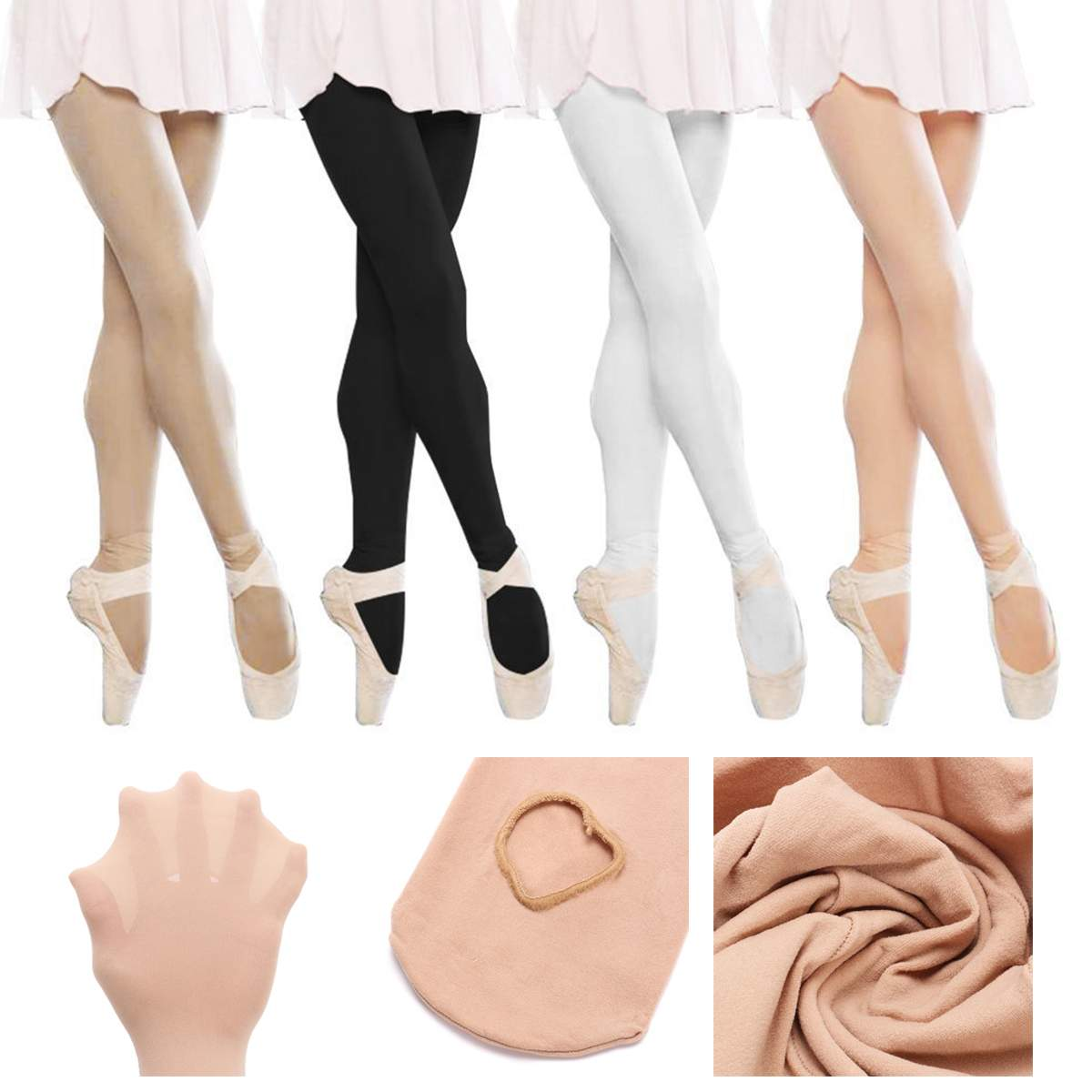 Children Girls Convertible Tights Ballet Dance Stocking Socks Ballet Pantyhose Gymnastics Leotards Kids Ladies Tap Dance Tights