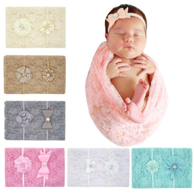 Baby Dekens Pasgeboren Leuke Kids Doek Handdoek Melk Witte Deken Wikkelen Zachte Baby Bloem Inbakeren Fashion Baby Lace Slaapzakken Helder En Doorschijnend Qua Uiterlijk